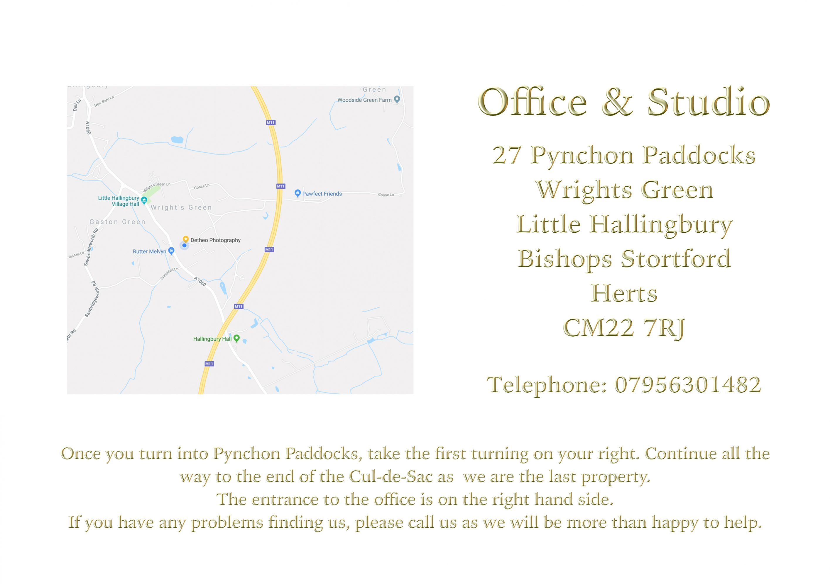 Map and Directions to Detheo Photography Office and Studio